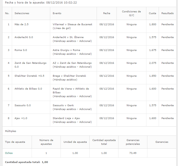 Capture 1 - #funbet Europa League cuota @73,49  #UEL